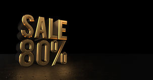 Luxury Design Promotion Sale. 3d Rendering Royalty Free Stock Photography