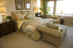 Luxury designer bedroom Stock Photography