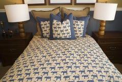 Luxury designer bedroom Stock Photos
