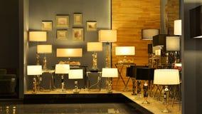 Luxury desk lighting Stock Image