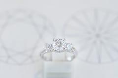 Luxury diamond ring Stock Image