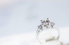 Luxury diamond ring Stock Photo