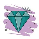 Luxury diamond stone. Cartoon over purple grunge background vector illustration graphic design vector illustration