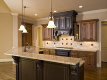Luxury Diamond tile Kitchen front Royalty Free Stock Images