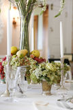 Luxury diing room antique historical table . Stock Photo