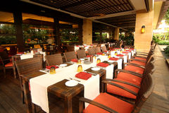 Luxury Dining Restaurant. Image of luxury hotel dining restaurant stock photo