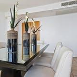 Luxury dining room. Amazing luxury penthouse open plan dining room Stock Photo
