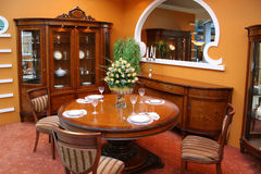 Luxury dining room Stock Photos