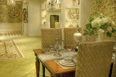 Luxury dining room Stock Photo