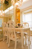 The luxury dining room Royalty Free Stock Photos