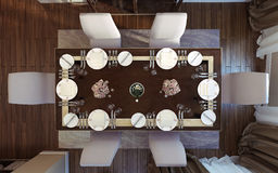 Luxury dining room, art deco style Stock Photography