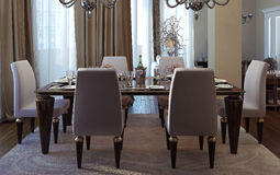 Luxury dining room, art deco style Royalty Free Stock Photos