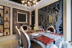Luxury dining room Stock Photos