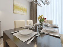 Luxury dining room interior Royalty Free Stock Photography