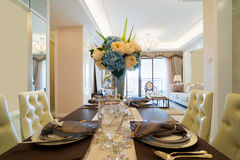 Luxury dining room Stock Photography