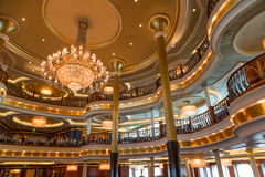 Luxury Dining Room on Ship. Formal Dining Room on a Luxury Cruise Ship Royalty Free Stock Photos
