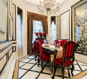 Luxury dining room Royalty Free Stock Photo