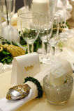 Luxury dining table Stock Image