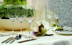 Luxury dining table Stock Images