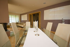 Luxury dinning room Royalty Free Stock Image