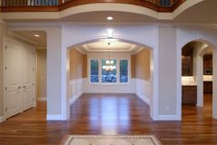Luxury Dinning Room. New luxury home is ready to be put on the market Stock Image