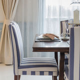 Luxury dinning room with chair and table Stock Image