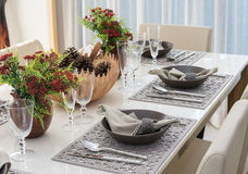 Luxury dinning room Stock Images