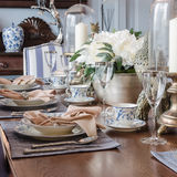 Luxury dinning table set Royalty Free Stock Photography