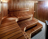 Luxury domestic sauna Stock Photography