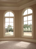 Luxury Double Arch Window Royalty Free Stock Image