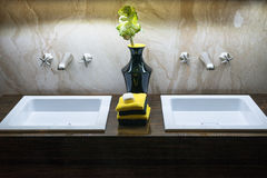 Luxury Double Sinks Royalty Free Stock Images