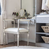 Luxury dressing table with classic chair style. At home royalty free stock images