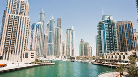 Luxury dubai marina Royalty Free Stock Photo