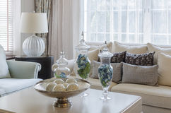 Luxury earth tone living room Royalty Free Stock Photo