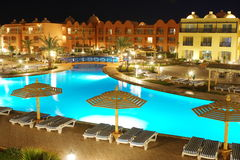 Luxury egypt hotel territory Stock Photography