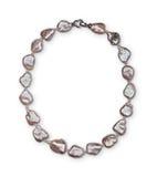 Luxury elegant baroque pearl necklace close-up Stock Photo