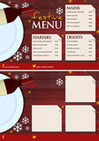 Luxury and Elegant Festive Christmas Menu. Beautiful luxury Christmas menu with 3 panels for food and drink items. Great for window signs, table mats and handing Stock Photography
