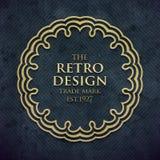 Luxury elegant frame in old retro style . Vector illustration Stock Image