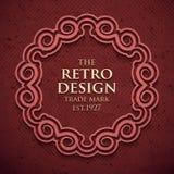 Luxury elegant frame in old retro style . Vector illustration Royalty Free Stock Photo