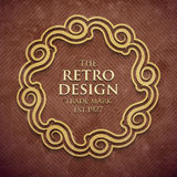 Luxury elegant frame in old retro style . Vector illustration Royalty Free Stock Photography