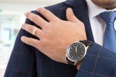 Luxury elegant man wear concept stock photography