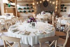 Luxury, elegant wedding reception table arrangement, floral centerpiece Royalty Free Stock Images