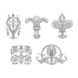 Luxury elements of rich decoration Royalty Free Stock Photography