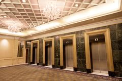 Luxury elevators Stock Image