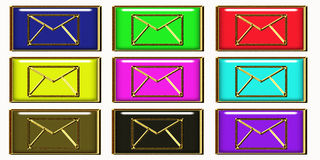 Luxury email symbol Stock Photos