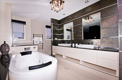 Luxury Ensuite. A luxury ensuite bathroom leading off from the master bedroom Stock Photo