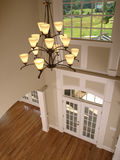 Luxury Entrance Foyer with hanging light Royalty Free Stock Photography