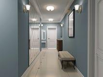 Luxury entrance hall art deco design Royalty Free Stock Photo