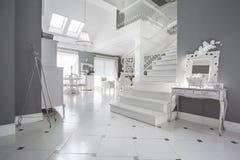 Luxury entrance hall. Photo of luxury white entrance hall Stock Image