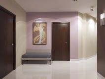Luxury entrance minimalist design. 3D render stock illustration